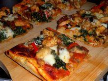 Pizza ze szpinakiem ( duża blacha )