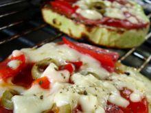 Pizze z grillowanych cukinii