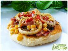 Pizzerinki z szynką i warzywami