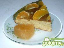 Placek mandarynkowy z galaretką