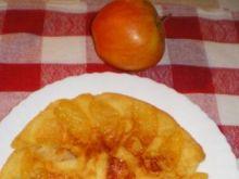 Placek naleśnikowy z jabłkiem