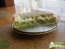 Placek z brokułami