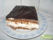 Placek z masą i polewą kakaową