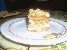 Placek z orzechami i masą karmelową