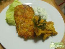 Placki porowo-marchewkowe z kurczakiem