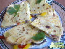 Placki tortilla z wieprzowiną i papryką