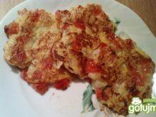 Placki z cukinii z pomidorem
