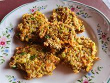 Placki z kaszą gryczaną i brokułem