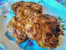 Placki z kurczakiem, papryką i żółtym serem
