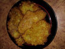Placki ziemniaczane z pieczarkami i serem żótym