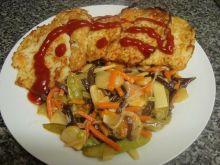 Placki ziemniaczane z warzywami i serem
