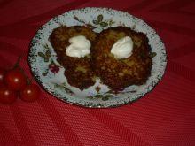 Placki ziemniaczane z żółtym serem i czosnkiem