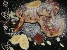 Placuszki bananowe z czekoladą