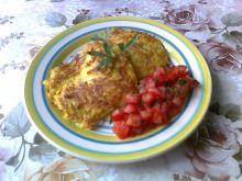 Placuszki dyniowe z salsą pomidorową