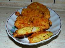 Placuszki warzywne z szynką i serem