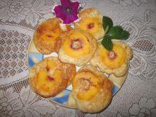 Placuszki z brzoskwiniami