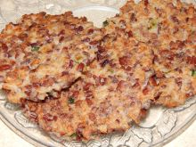 Placuszki z kalafiora i czerwonego ryżu