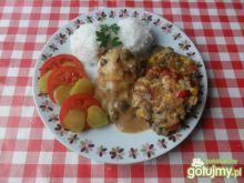 Placuszki z kurczaka z pieczarkami