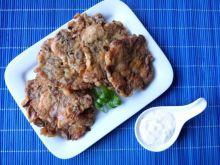 Placuszki z kurczaka z pieczarkami i porą