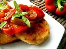 Placuszki ziemniaczane z sosem paprykowym