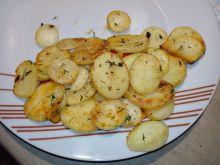 Plasterki ziemniaków z przyprawami