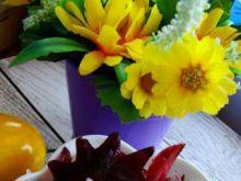 Płatki ryżowe z kwiatem hibiskusa