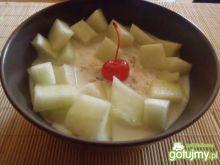 Płatki ryżowo-owsiane z melonem