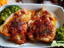 Podudzia kurczaczka z majerankiem