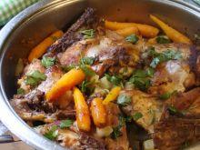 Podudzia kurczaka z warzywami