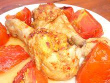 Podudzia w przyprawie harissa i pomidorach
