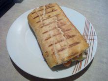 Podwójny hot - dog z grilla