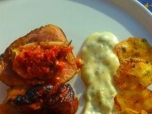 Polędwiczka w miodzie z figą w sosie z sera