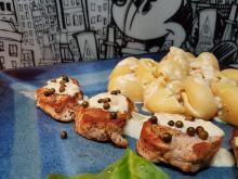 Polędwiczka wieprzowa z sosem gorgonzola