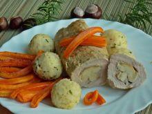 Polędwiczka z borowikami i pieczoną marchewką