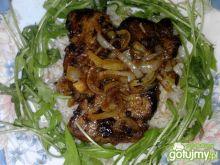 Polędwiczki balsamiczne z ryżem