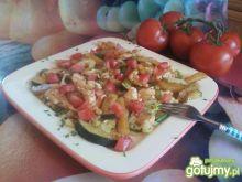 Polędwiczki drobiowe z warzywami.