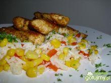 Polędwiczki z kurczaka w kolorowym ryżu