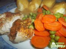 Polędwiczki z kurczaka z marchewką