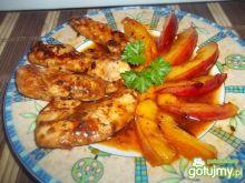 Polędwiczki z kurczaka z nektarynką