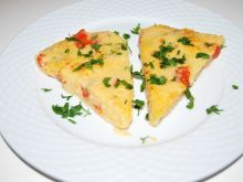 Polenta z pomidorami i serem