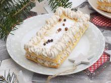 Półfrancuskie ciastka z kremem piernikowym