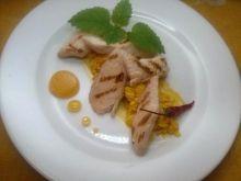 Pomarańczowa pierś kurczaka