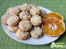 Pomarańczowe ciasteczka z rodzynkami