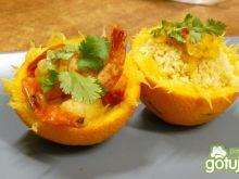 Pomarańczowe krewetki z kuskusem
