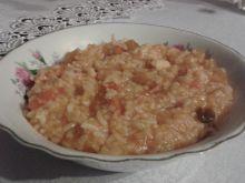 Pomarańczowe risotto z kurczakiem
