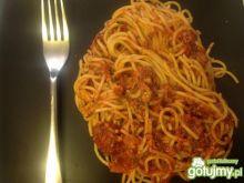 Pomarańczowo- pomidorowe spagetti