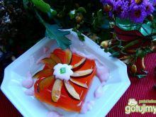 Pomarańczowy deser z śliwką