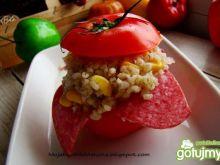 Pomidorek nadziewany kaszą perłową