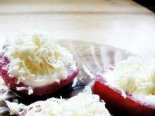 Pomidorki z czornkiem, majonezem i serem