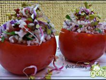 Pomidorki z kuskusową sałatką